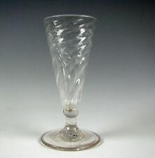 Antique 18th Century Dwarf Ale Pattern Molded Flint Glass Stem