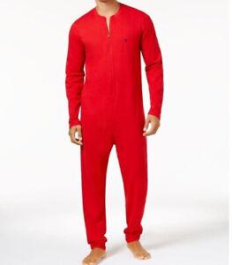 Polo Ralph Lauren Red Unionsuit Jumpsuit Pajamas Men's Size Large NWT