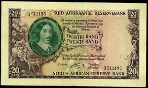 🔸SOUTH AFRICA 20 RAND 1962-1965 P-108 VF (M-084)🔸