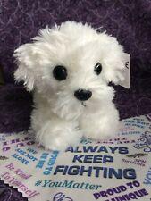 Maltese Battle Buddy (mental health plush gift, healthy coping skills, AKF)