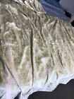 """Vintage Green White Lined Curtains Drapes Pinch Pleat 8 Panels Each 26""""  X 64"""""""