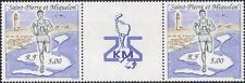 St Pierre & Miquelon 1990 Sports/Athlete/Running/Race/Lighthouse/Map pr n38211a