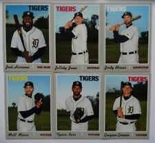 2019 Topps Heritage High Number Detroit Tigers Base Team Set Of 6 Cards