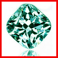 0.78ct VS1/BLUE GREEN LOOSE CUSHION REAL MOISSANITE