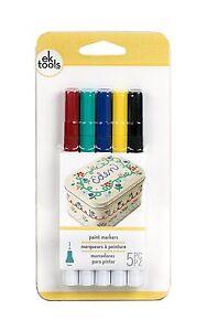 Ek Tools Paint Markers – Primary, Fine Point - 5pk