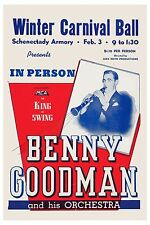 The King of Swing: Benny Goodman & his Orchestra New York Poster 1940 12x18