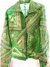 Vintage Indian Embroidery Silk Jacket
