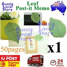50 Sticky Notes POST-IT Memo Pad Exquisite Leaf it Leaves Note Message leaves