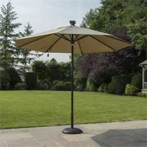 Norfolk Leisure solar lights automatic umbrella/parasol - taupe