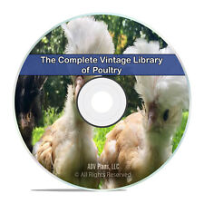 200 Classic Books on Poultry, Chickens, Farming, Raise, Fowl, Squab, CD DVD H81