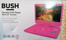 Bush 10 Inch Portable In - Car DVD Player - Pink