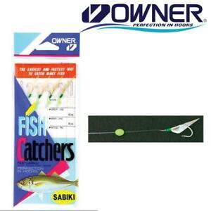 Owner Silver Rainbow Skin Sabiki Bait Catcher Rigs 5524 Select Size