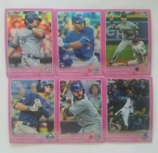 2015 TOPPS CHROME PINK REFRACTOR CARD #1 TO #200- COMPLETE YOUR SET