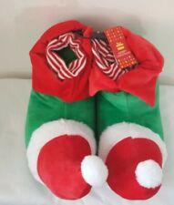 New Elf  Fun Novelty Christmas Slippers For Men Non Slip Soles Primark Size: L