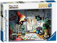 Ravensburger Disney Pixar The Artist's Desk 1000pc Jigsaw Puzzle ~Sale 2 for $30