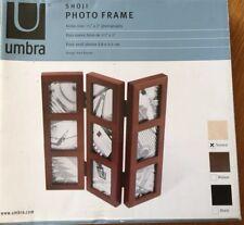 Wooden Shuji Umbra Triple Photo Frame 9 Photos Brand New Boxed
