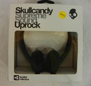 New Skullcandy Uprock Headphones Black And Silver