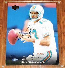 "AUTOGRAPH RARE 1995 UPPER DECK #103 DAN MARINO BLOW-UP CARD 8.5x11"" UD COA /500"