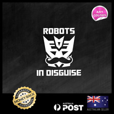 Decepticon Robot in Disguise Transformers 110x118mm Funny Decal Vinyl Sticker