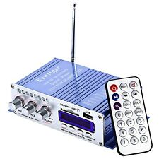 HY-502 12V 2CH Amplificateur de Puissance USB/SD Carte Lecteur Lac Bleu IFR
