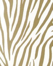 SD102051 Galerie Pearlised Animal Zebra Skin Cream Gold Feature Wallpaper