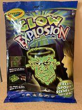 Crayola, Glow Explosion - 1 Glow Activator, 1 Green Glow Marker & 4 Scenes, Nip