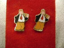 1979 Wimpy Earrings Cloisonne Enamel King Features New Old Stock!