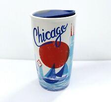 Starbucks Chicago Waterfront Double Wall Traveler Ceramic Tumbler 12 Fl Oz
