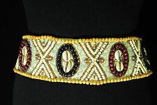 Aventurero Beaded Azteca cinturón de moda impresionante Adornos Nuevo (Bl1)