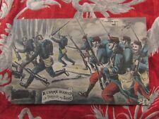 cpa illustrateur fantaisie militaire patriotique guerre 14 JB a l arme blanche