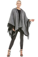 Central Chic Hooded Women Blanket Wrap Shawl Cape *Fast Dispatch UK Supplier