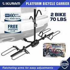 "IKURAM 2 Bicycle Carrier Rack Bike for Car Rear 2"" Tow Bar Hitch Mount Foldable"