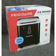 Frigidaire 26 lb Compact Ice Maker, Black, Efic108-B-Black, Worn Box