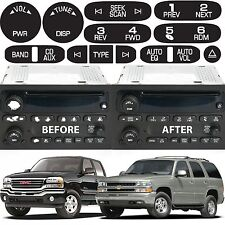 Replacement Radio Button Stickers For 2002-2006 GM Trucks New Free Shipping USA