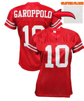 Custom Womens Blinged Football RED Jersey,ANY NAME,NUMBER Jimmy Garoppolo