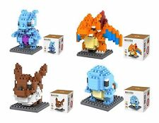 LOZ Set 4 box Diamond Block Squirtle - Eevee - Charizard -Mewtwo 580 pcs