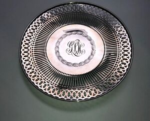 Watson Reticulated Sterling Silver Monogrammed Plate