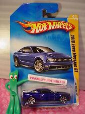 2009 #41 Premier Hot Wheels 2010 '10 FORD MUSTANG GT☆Dark Blue; pr5☆New Models