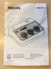 Philips PDC 011 agrandisseur Minuteur manuel d'instruction 1977