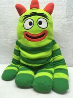 """Yo Gabba Gabba BROBEE Plush Doll 17"""" stuffed animal green Big Large Love Pillow"""