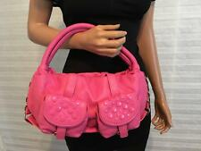 New authentic SONIA RYKIEL Paris Pink Caviar Leather Studded Hand Bag