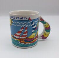 Vintage Rhode Island Sailing Coffee Tea Mug Sail Boats Water