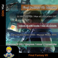 Final Fantasy VII 7 Remake (PS4 Mod)-Max Gil/Level/Materia/Current Items