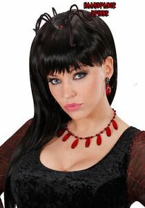 Haarige Spinne Kopfschmuck schwarz Horror Spinnen-Haarspange Halloween KK