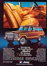 1978 1979 Jeep Wagoneer Limited Advertisement Print Art Car Ad J861 - Grand 4wd