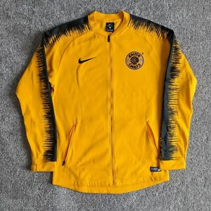 Nike Kaizer Chiefs 2018 Authentic Anthem Yellow Soccer Jacket sz M 918600-705