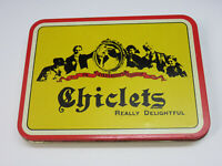 Vintage Chiclets Gum Tin Really Delightful Empty Container