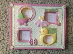 Small Wonders Baby Girl's First Ceramic Photo Frame
