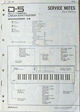 Roland Service Manual Original Book Pick 1: D-5, D-10, or D-20 Synthesizer