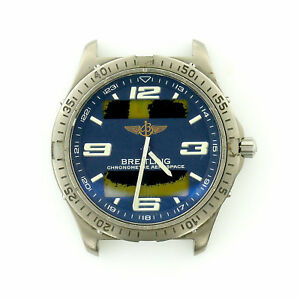 BREITLING MENS AEROSPACE E75362 DIGITAL/ANALOG  BLUE DIAL PARTS+REPAIRS PROJECT
